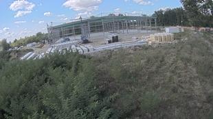 Blick auf die Baustelle