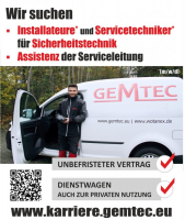 JOB: Servicetechniker, Installateur und Assistenz (m/w/d)