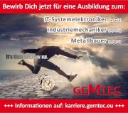 Ausbildungsberufe bei GEMTEC 2021