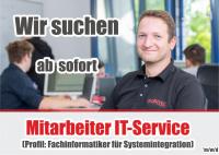 JOB ANGEBOT: Mitarbeiter (m/w/d) IT-Service