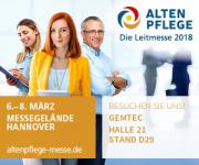 Altenpflege - DieLeitmesse 2018 - wir sind dabei!