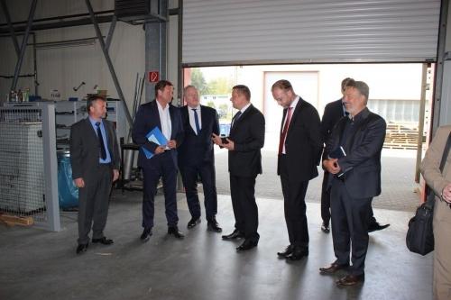 C. Görke und B. Becking im Gespräch mit der Geschäftsführung
