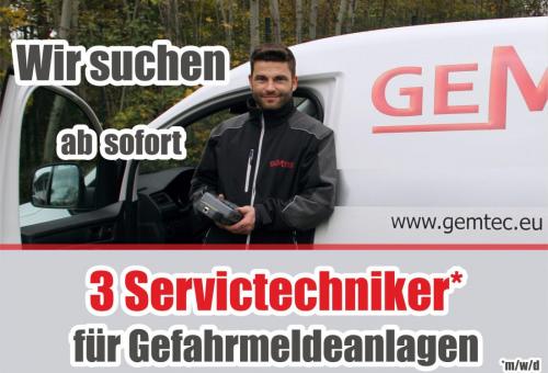 Wir suchen Servicetechniker für Gefahrmeldeanlagen.